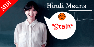 stalk meaning in hindi