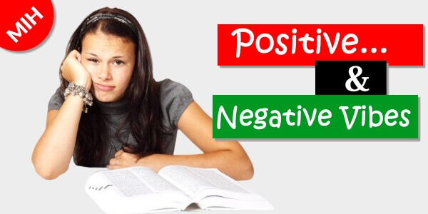 positive and negative vibe meaning in hindi
