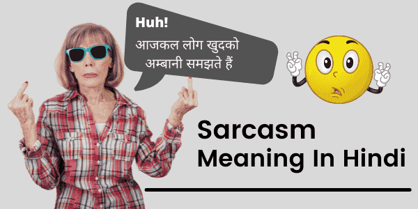 sarcasm meaning in hindi