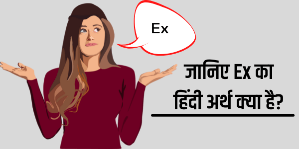 ex meaning in hindi